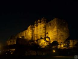 Jodhpur Mehrangarh Fort at Night Beautiful View