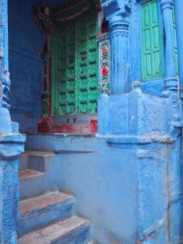Rare blue houses in Jodhpur