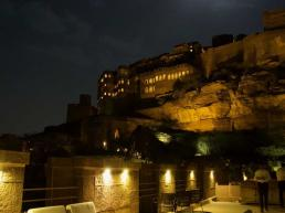 Chokelao Restaurant Jodhpur Mehrangarh Fort at Night